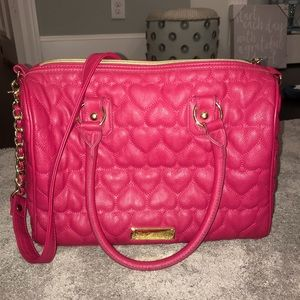 Betsy Johnson Heart Quilted Purse